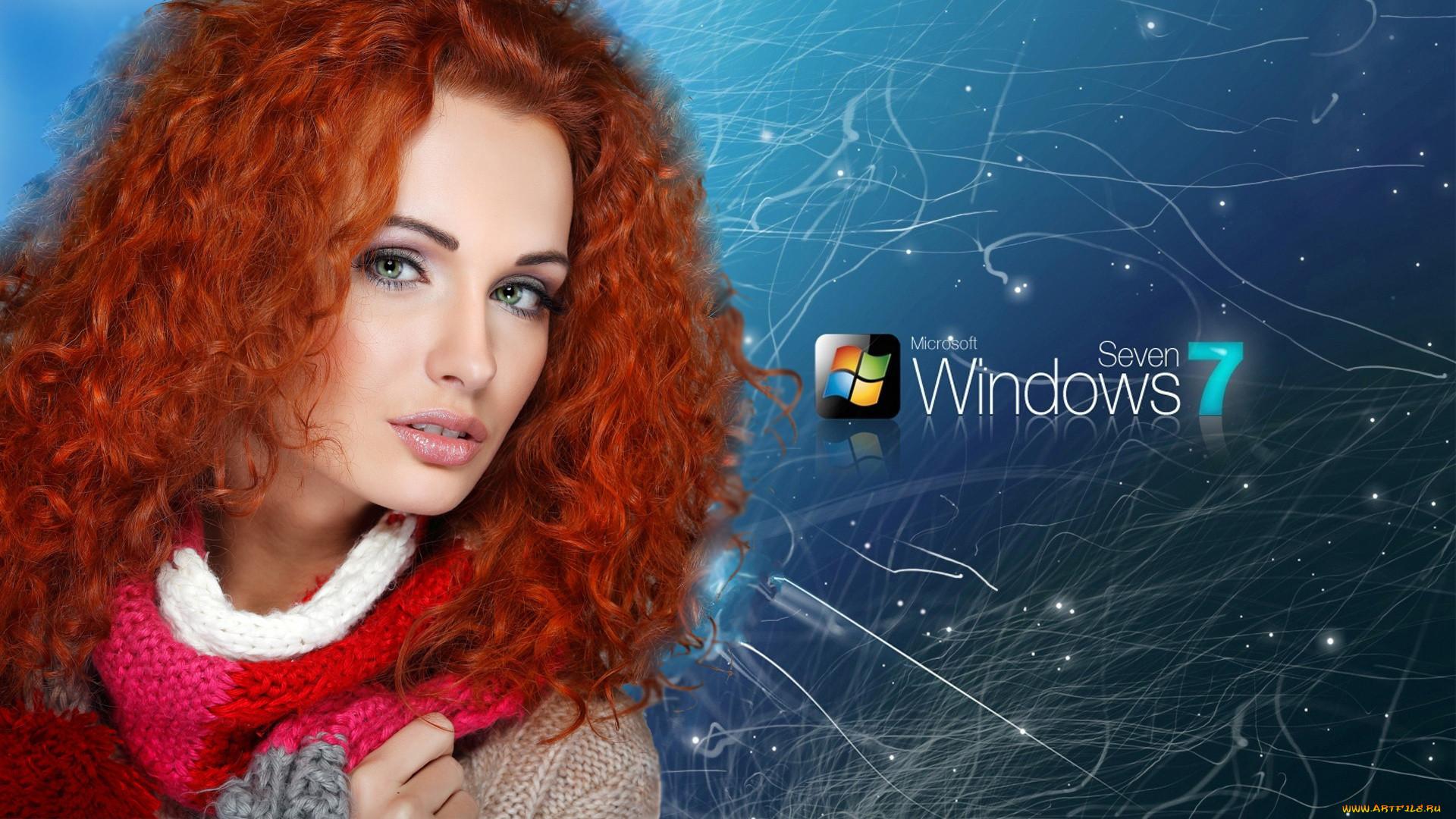 Обои Девушки Windows 7